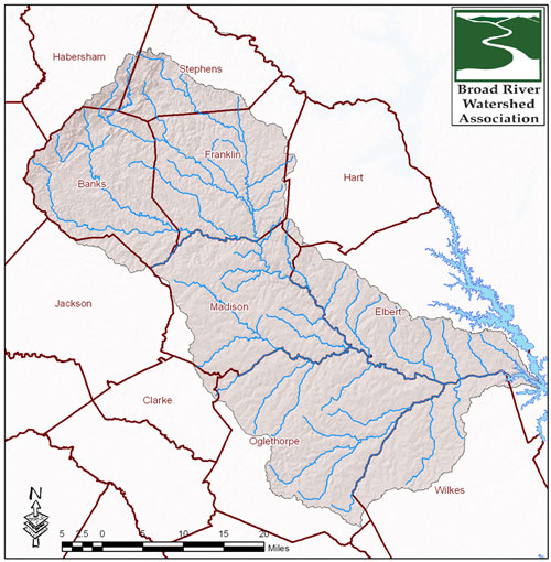 The River Map Counties